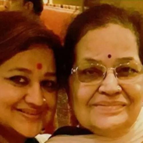 Supriya Shukla with Mother