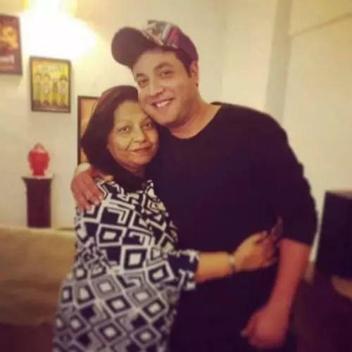 Varun Sharma with mother