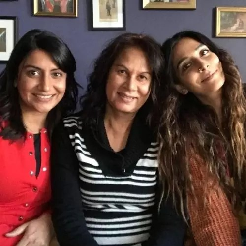 Monica Dogra with Mother and Sister