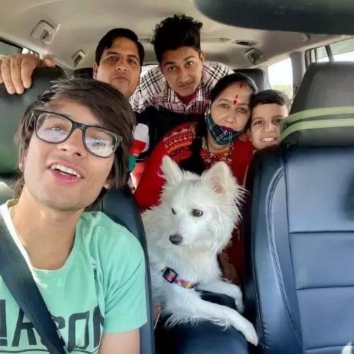 Sourav Joshi with Family