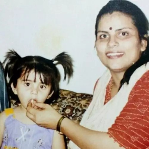 Tina Shilparaj with Her Mother