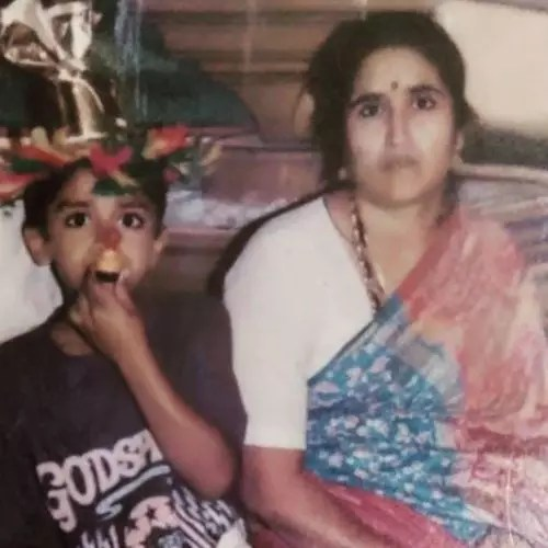 Vikramshri with mother