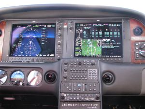 Cirrus Perspective™avionics suite, flight plan page MAP, photo by wikiWings®