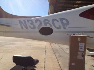 2008 SR22TN with tail cone access panel removed