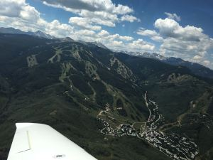 Mountain Flying above Beaver Creek Colorado Ski Resort