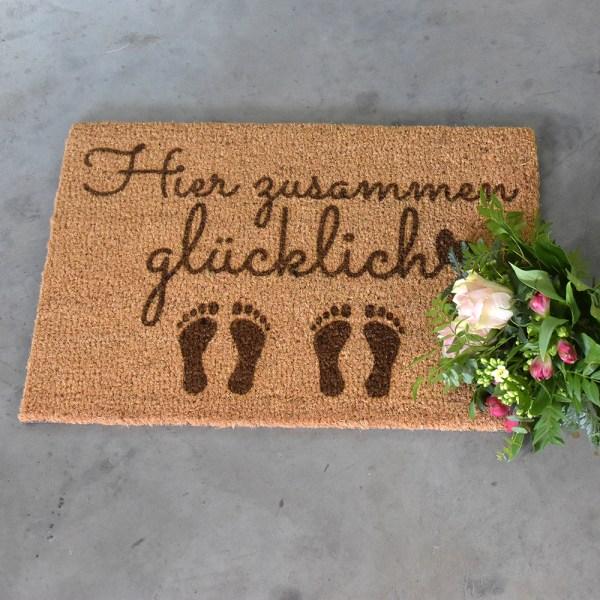 Fußmatte - Hier zusammen glücklich - 2