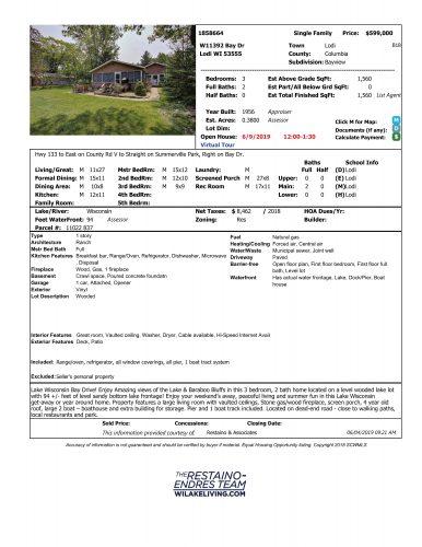 Data Sheet - W11392 Bay Drive