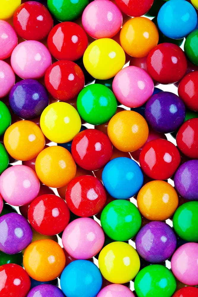A colorful candy gumball background
