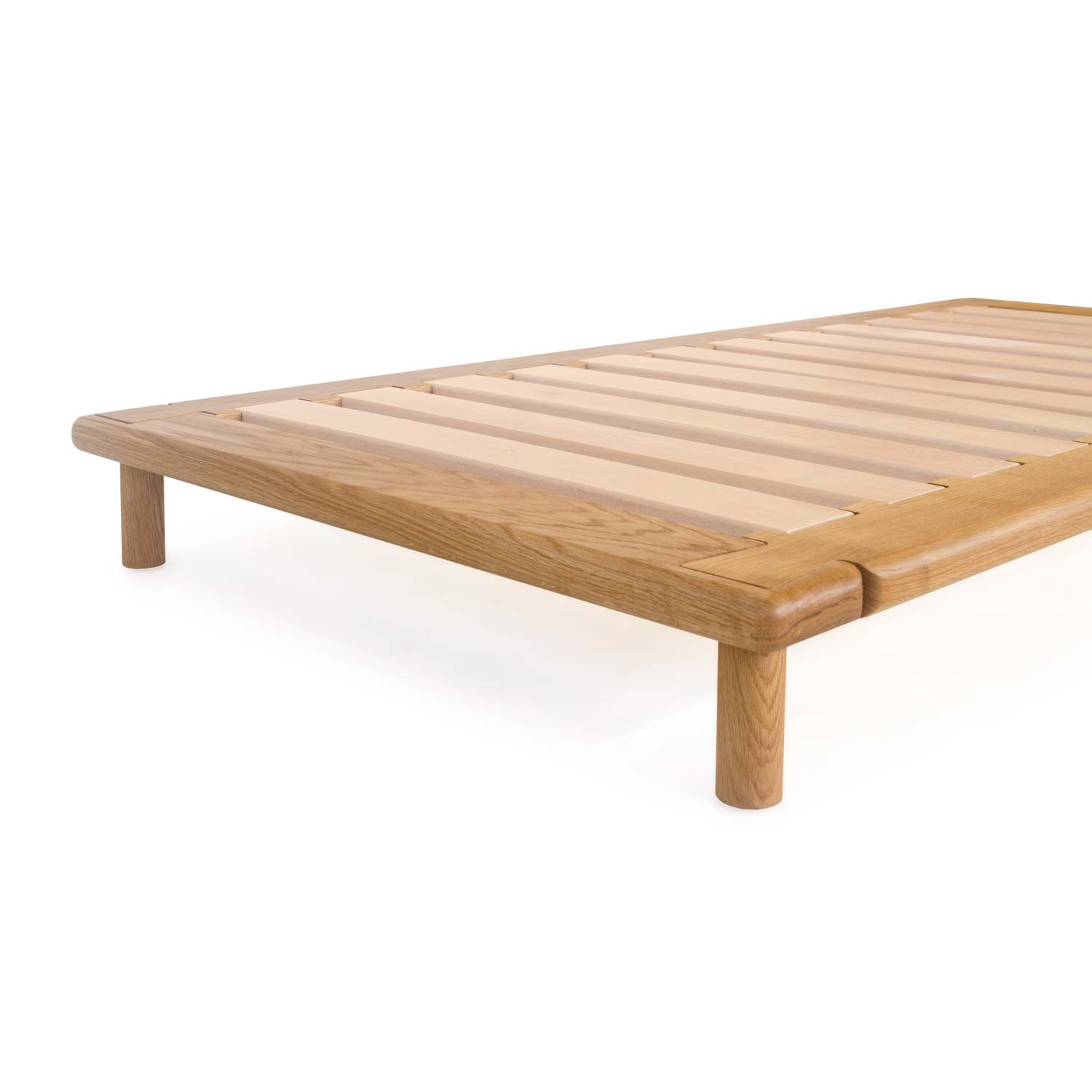 Oak Platform Bed Without A Headboard Easy Shipping Assembly