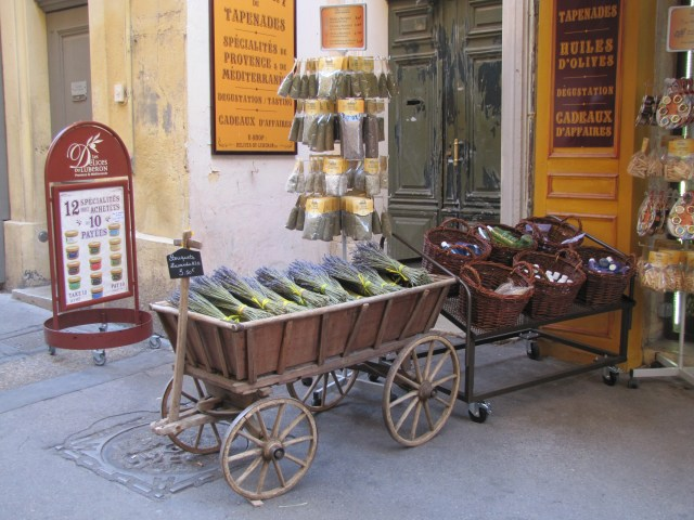 Provencale goods for sale, Aix-en-Provence, France
