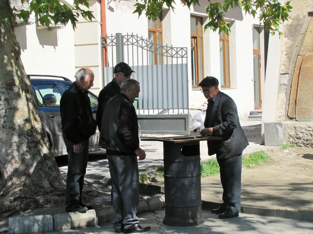 Backgammon Players, Sighnaghi, Georgia