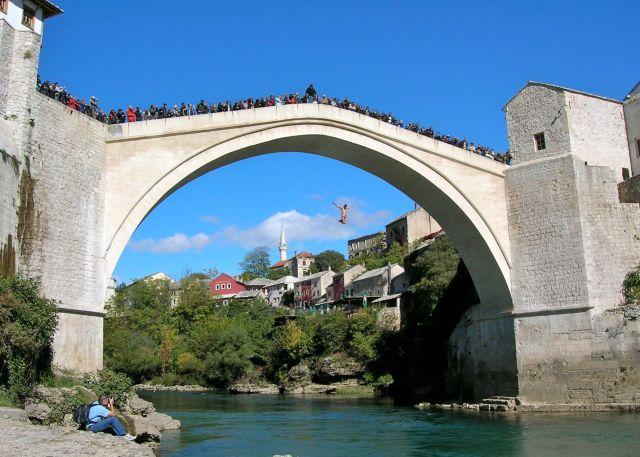 Diving From The Bridge, Mostar, Bosnia & Herzegovena