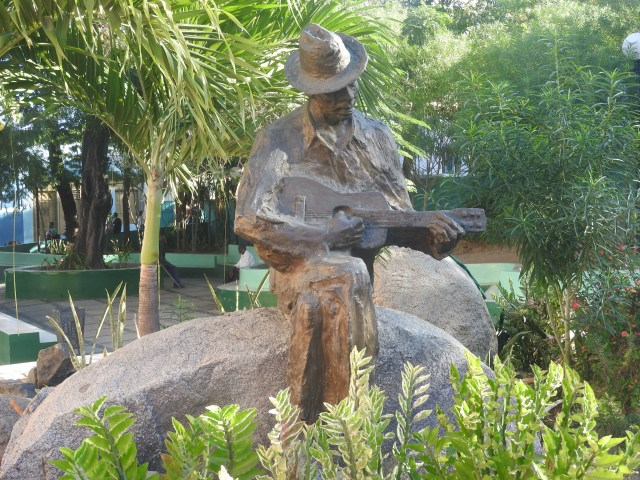 Bronze statue of a son musician, Santiago de Cuba