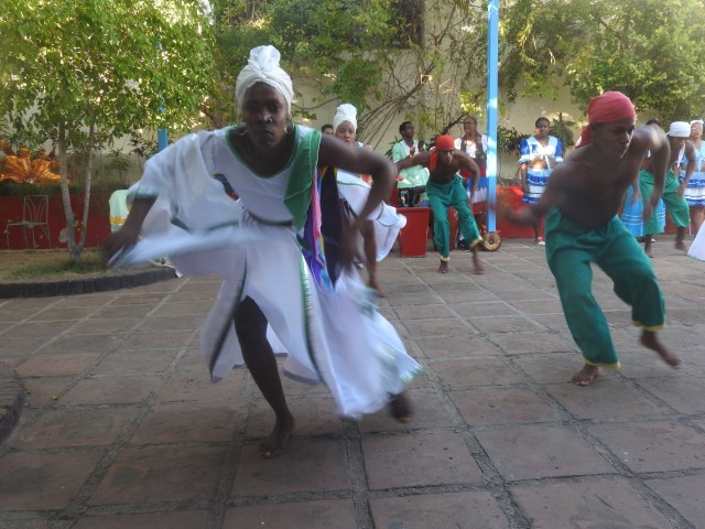Dancers at the Santiago de Cuba Carnival Museum