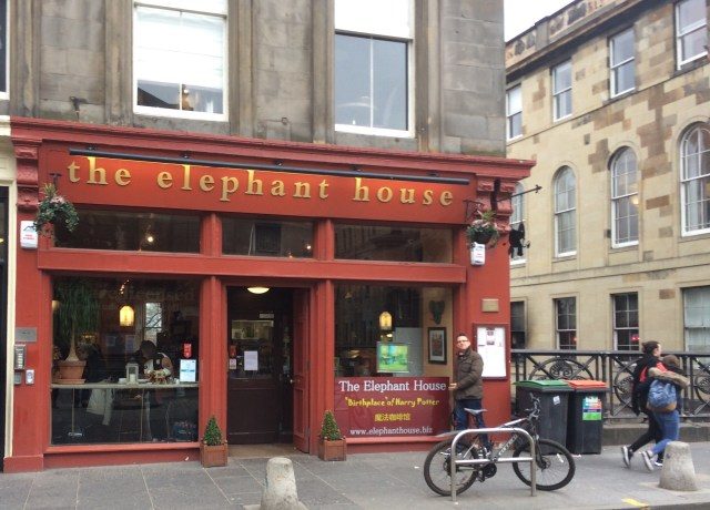 The elephant house Edinburgh, birthplace of Harry Potter