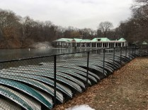Boats stacked for the Winter, Loeb Boathouse, Central Park, New York