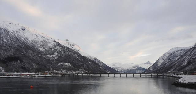 Bridge On The Bus Journey From Fauske To Narvik In Norway