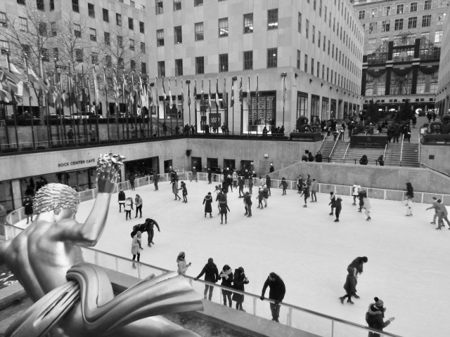 Skating Rink at The Rockefeller Center, New York