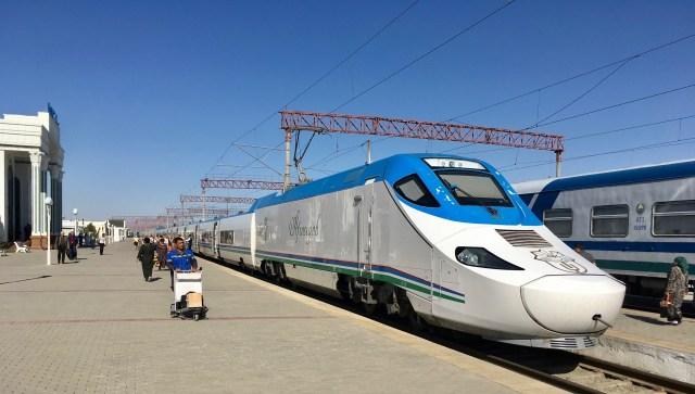 The Afrosiyob Train, Bukhara, Uzbekistan