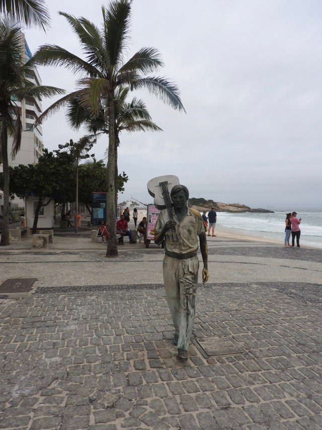 Statue of Brazilian musician and composer Antonio Carlos