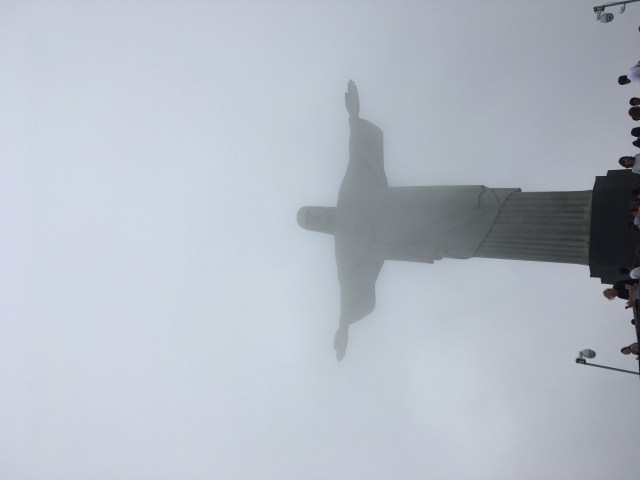 Christ the Redeemer in the mist