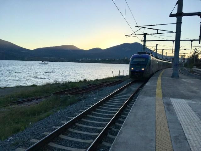 Train, Halkida, Greece