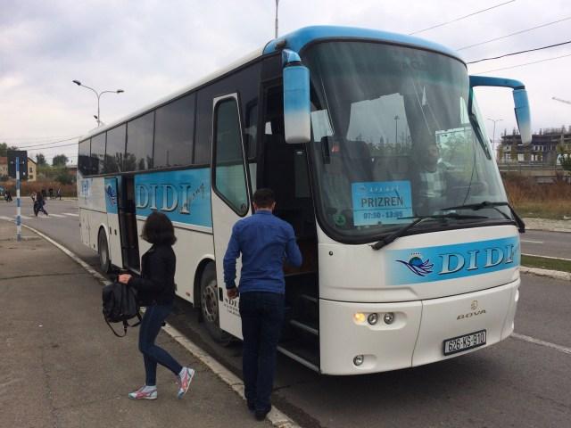 Bus, Prizren to Pristina, Kosovo