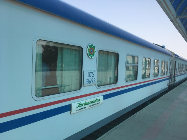 Ashgabat to Mary Train, Turkmenistan