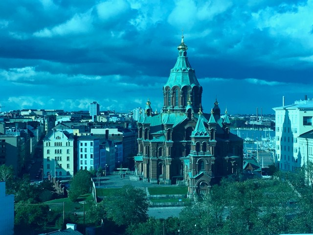 Helsinki Eye View of the Orthodox Cathedral