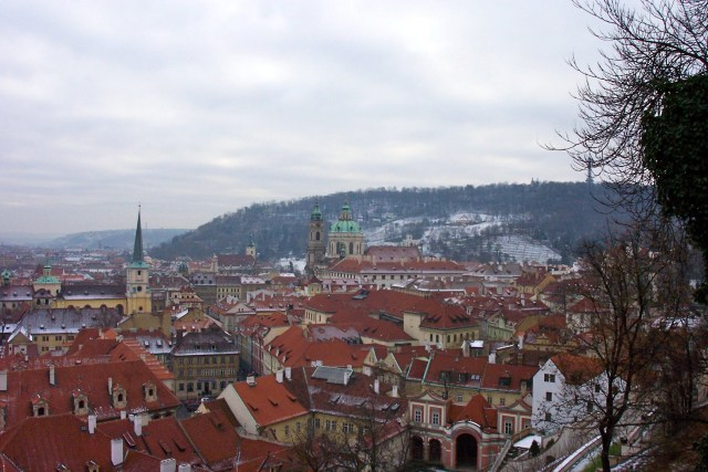 View from Prague Castle, Christmas 2003