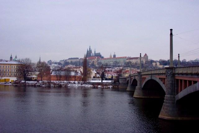 View of Prague Castle, Christmas 2003