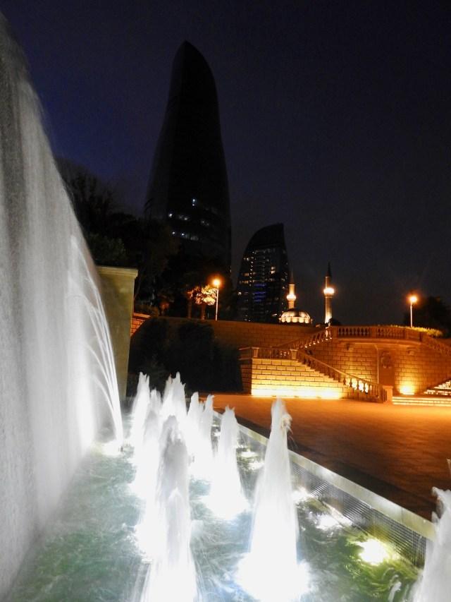 Flame Tower & Fountain, Baku