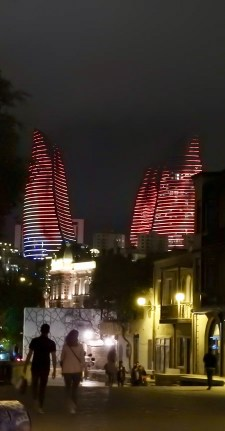 Flame Towers at Night, Baku