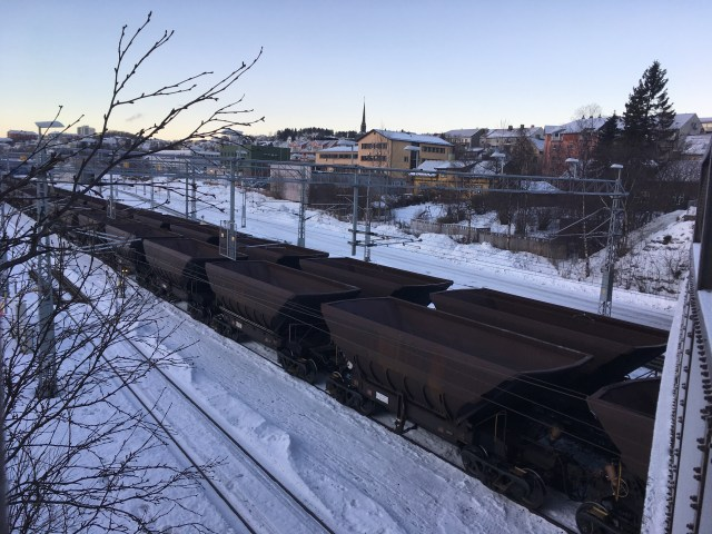 Empty Iron Ore Trucks, Narvik, Norway