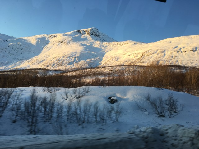 View from the Narvik to Tromso Bus