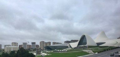 The Zaha Hadid designed Heydar Aliyev Center, Baku