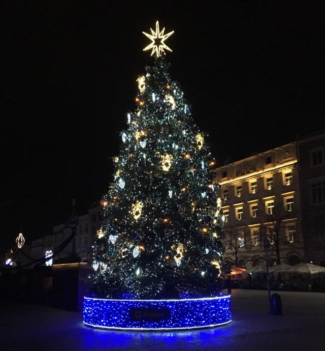 Christmas Tree, Old Town Square, Krakow, Poland