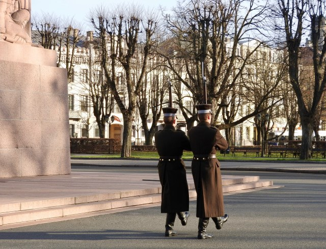 Freedom Monument Guards, Riga