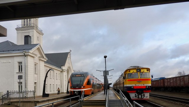 Trains at Valga Station, Estonia