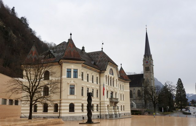 Vaduz City Hall & Cathedral