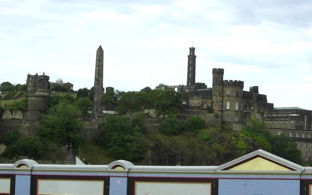 View of Calton Hill from Waverley Bridge, Edinburgh