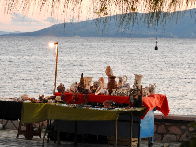 Bric A Brac Stall With A View, Sarande, Albania