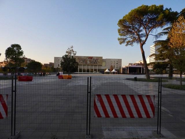 Skanderbeg Square, Tirana, Albania in 2017