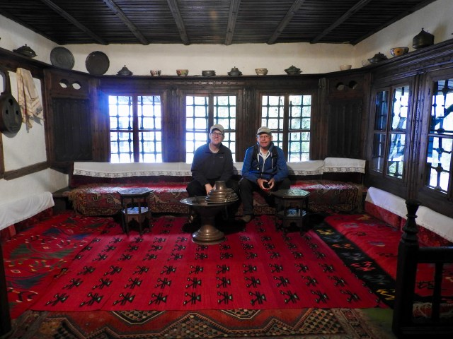 Hamish & I Inside Ethnographic Museum, Pristina, Kosovo