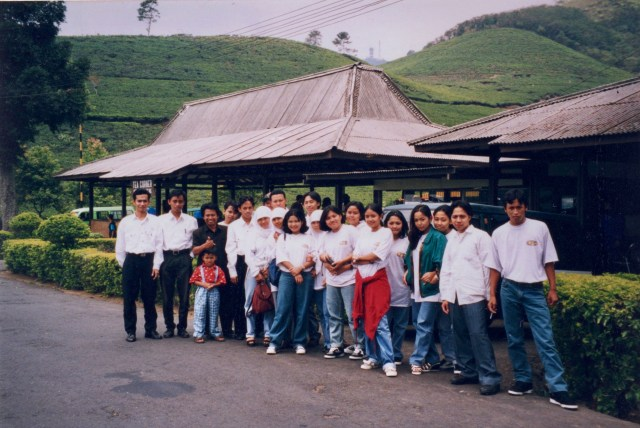 Schools Group, Guning Mas Tea Plantation, Java, Indonesia