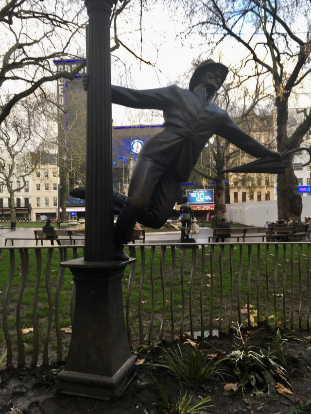 Gene Kelly, Singing in the Rain​ statue, Leicester Square, London
