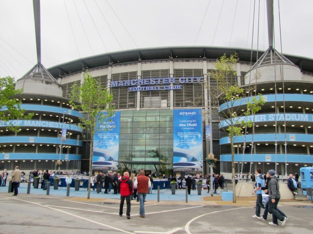 Etihad Exterior (Formerly Named City of Manchester Stadium)