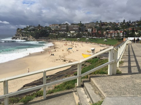 View of Bronte Beach looking south.