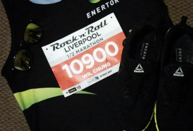 Kit ready for Liverpool RnR Half Marathon