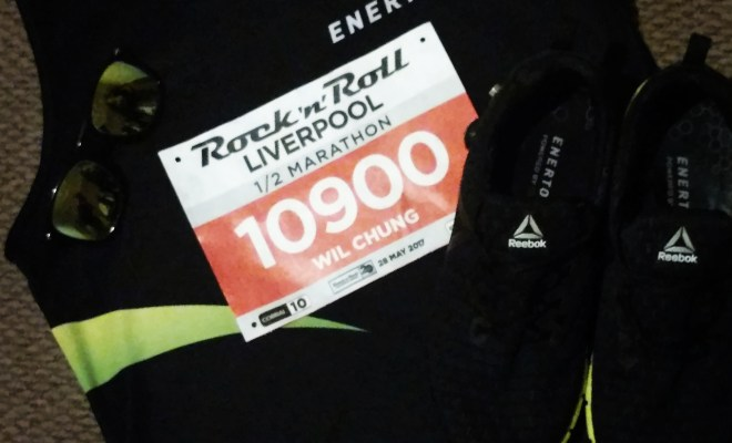Kit ready for Liverpool RnR Half Marathon
